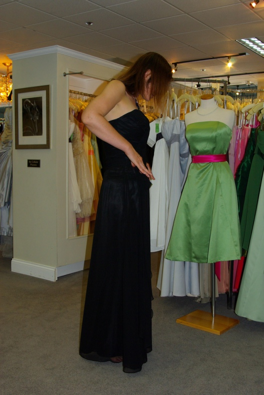 The Dress, side view