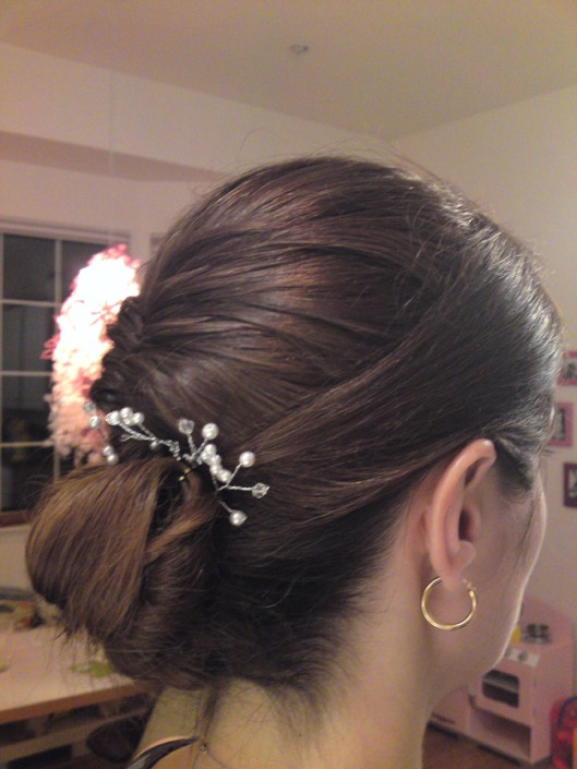 Side view of updo by Heather Reed