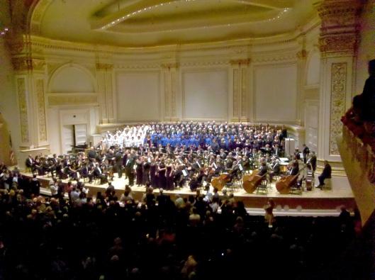 Mahler 8, Carnegie Hall